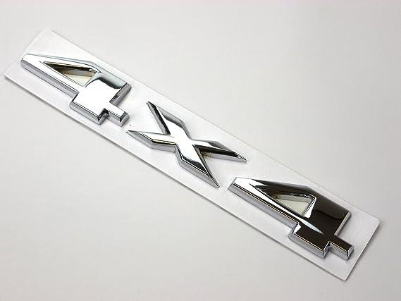 Metall Emblem Aufkleber 4x4 Chrom Auto