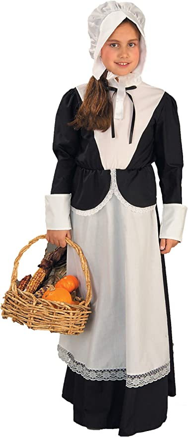 Forum Novelties Pilgrim Girl Costume, Child's Medium