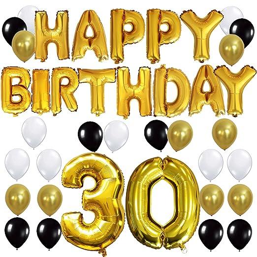 3 opinioni per KUNGYO Happy Birthday Lettere Alfabeto Balloon+Numero 30 Mylar Foil