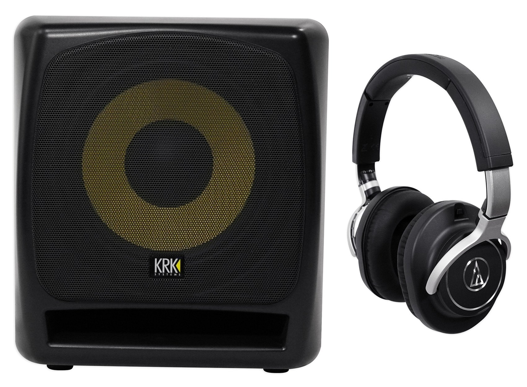 KRK 12S v2 12'' 240w Powered Studio Subwoofer w/Class A-B Amplifier+Headphones