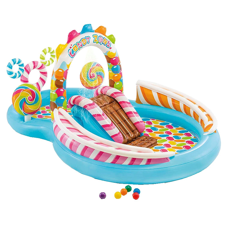 Intex 57149NP - Centro de juegos hinchable Candy Zone 295 x 191 x 130 cm: Amazon.es: Juguetes y juegos