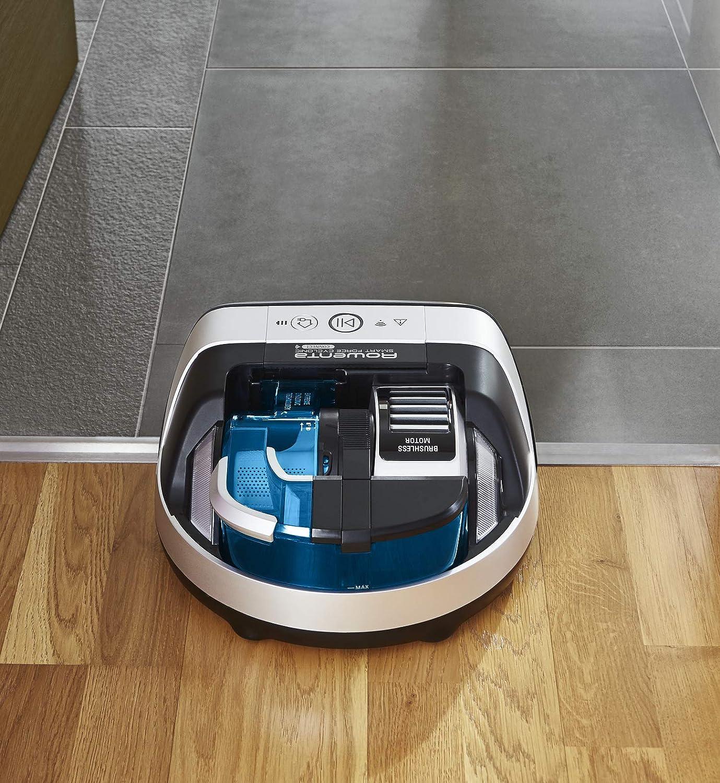 Rowenta Smart Force Cyclonic RR8021WH - Robot aspirador ciclónico alto rendimiento en todo tipo de suelos con navegación inteligente, cámara láser, cepillo motorizado y conectividad para smartphones: Amazon.es: Hogar