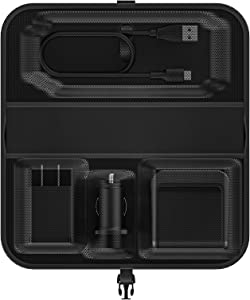 Mophie Travel Kit - Portable, Wireless Charging for Samsung, Apple iPhone 8/iPhone X and Other Qi-Enabled Smartphones - Black (409901792)