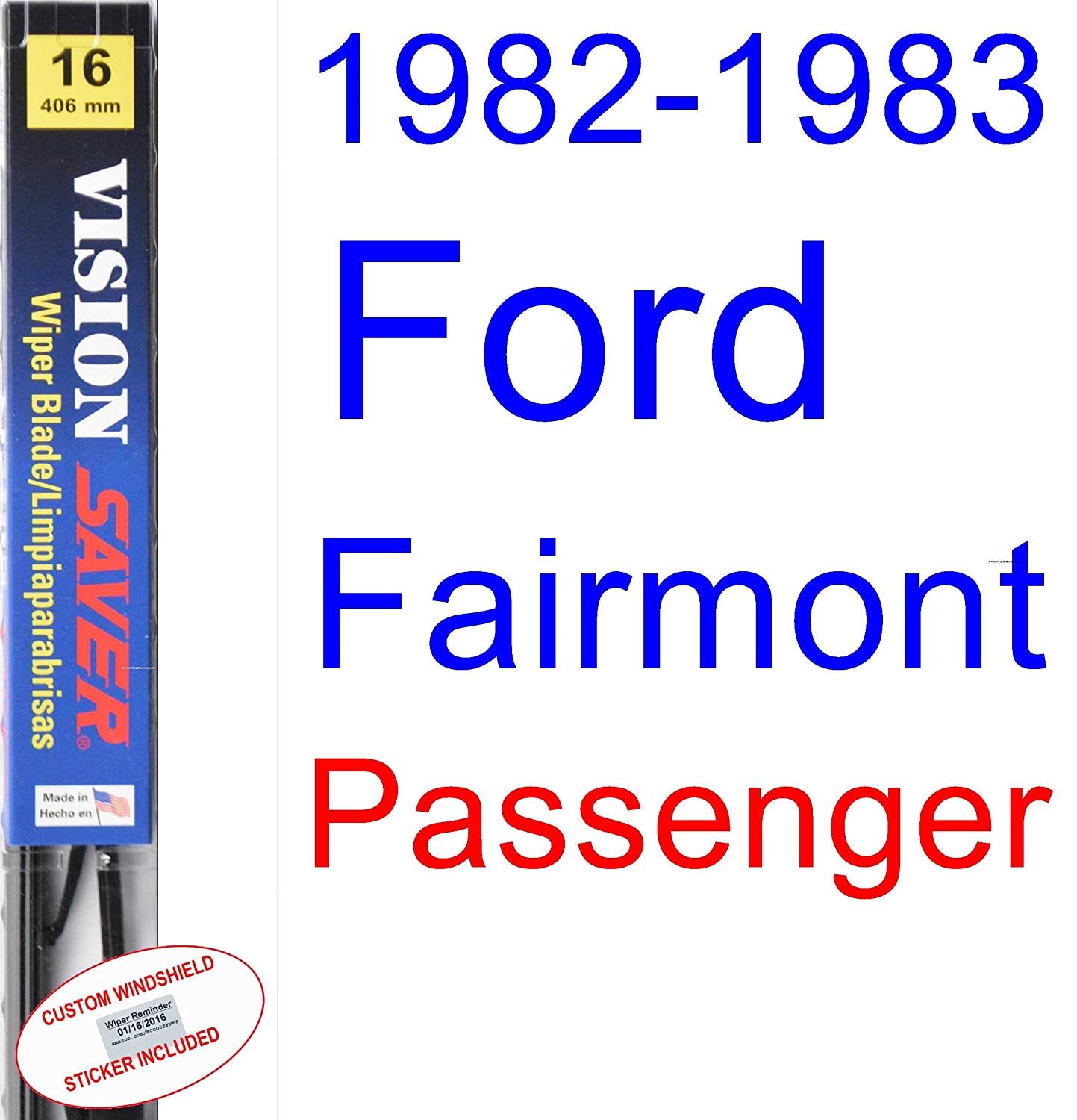 Amazon.com: 1982-1983 Ford Fairmont Wiper Blade (Driver) (Saver Automotive Products-Vision Saver): Automotive