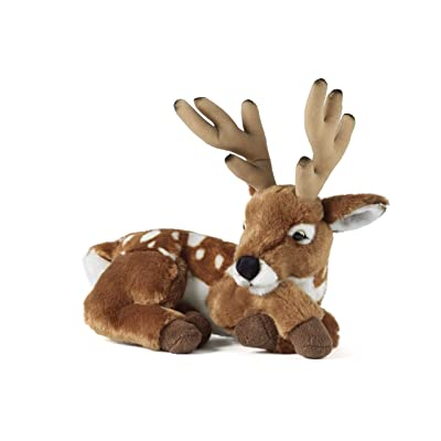 Living Nature Soft Toy - Deer with Antlers (28cm): Toys & Games