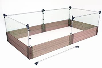 Frame It All Small Animal Barrier Stainless Steel Expandable Garden Fence