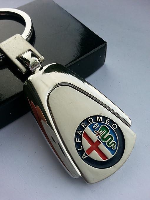 8 opinioni per Alfa Romeo- Portachiavi in metallo di alta qualità, confezione regalo