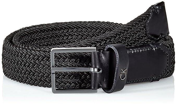 Calvin Klein Elastic Belt 3.5cm, Ceinture Homme, Noir (Black 001), 88b01a18e26
