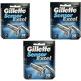 Gillette Sensor Excel - 30 Count (3 x 10 Pack)