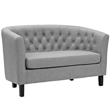 Amazoncom Modway Prospect Upholstered Contemporary Modern Loveseat