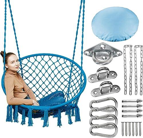 Greenstell Hammock Chair,Max 350 Lbs Macrame Swing