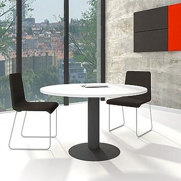 Esstisch weiß rund  OPTIMA runder Besprechungstisch Esstisch Küchentisch Tisch Weiß Rund ...