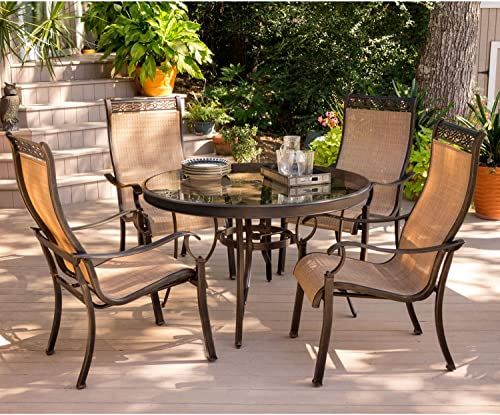 Hanover MONDN5PCG Monaco 5 Piece Dining Set Outdoor Furniture