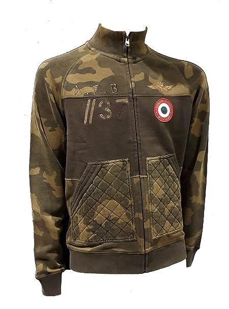 Aeronautica Militare Sudadera FE1433 Camuflaje Verde, Hombre, Polo ...