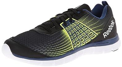 Reebok Men's Z Dual Rush Running Shoe, BlackBatik BlueSolar Yellow