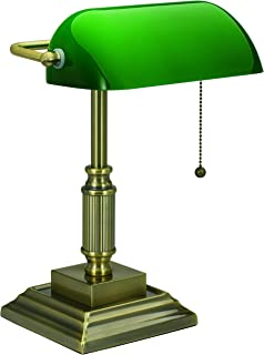 Upgradelights replacement glass bankers lamp shade green desk lamp v light traditional style cfl bankers desk lamp with green glass shade vs688029ab aloadofball Choice Image