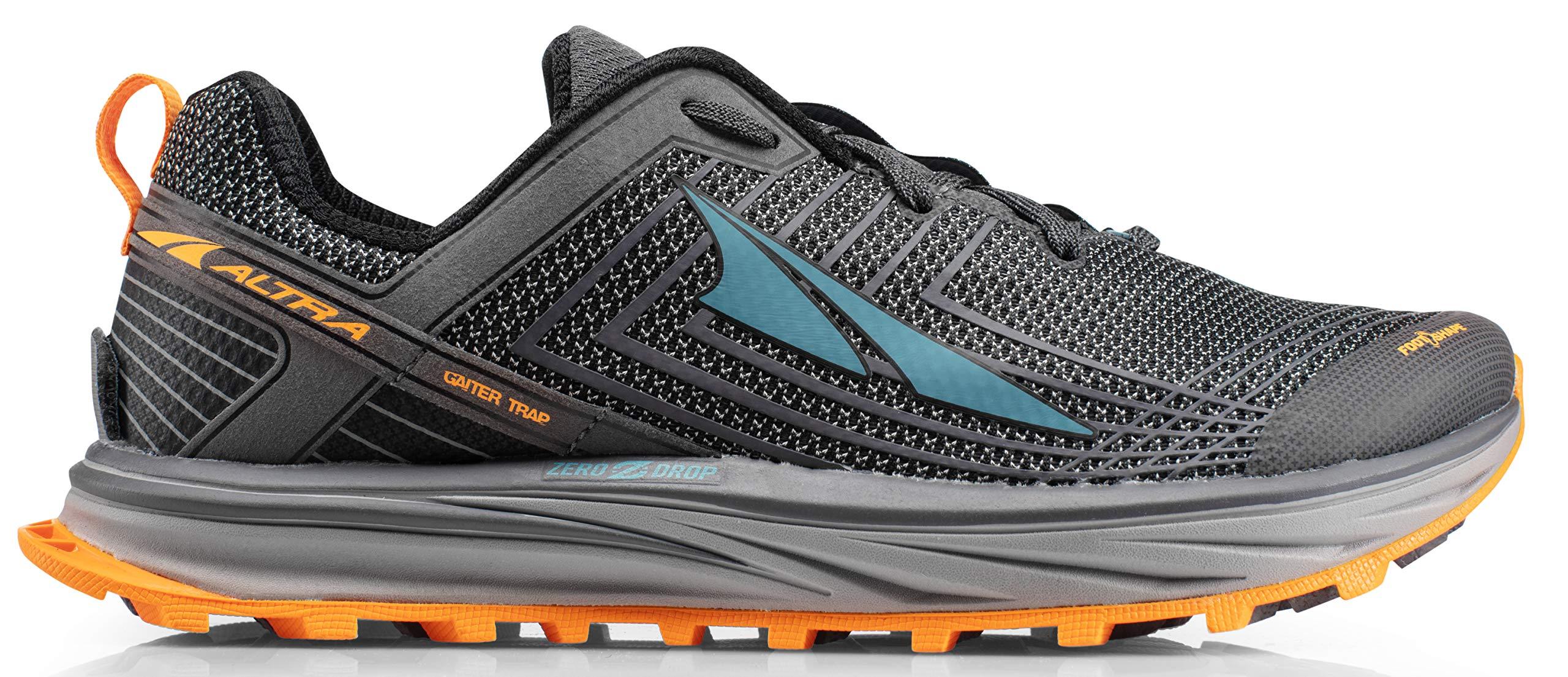 Altra AFM1957F Men's TIMP 1.5 Trail Running Shoe, Gray/Orange - 8 D(M) US
