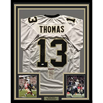 buy popular d4ca1 ce145 Framed Autographed/Signed Michael Thomas 33x42 New Orleans ...