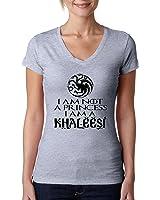 Allntrends Women's V Shirt Not A Princess I'm A Khaleesi