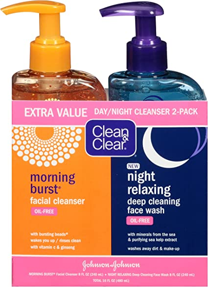 Amazon Com Clean Clear 2 Pack Of Day Night Face Wash With
