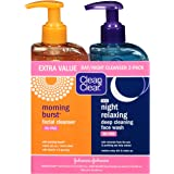 Clean & Clear 2-Pack Day and Night Face Cleanser Citrus Morning Burst Facial Cleanser with Vitamin C and Cucumber…