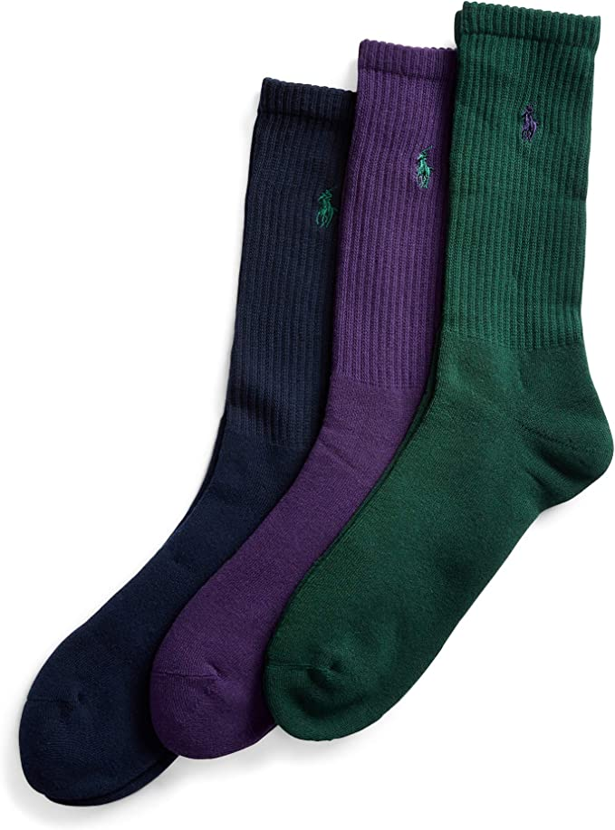 Polo Ralph Lauren – 3 pares de calcetines de algodón peinado ...