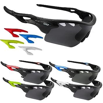 Gafas de sol polarizadas CVC Airwrap, para deportes profesionales, ciclismo, correr, golf