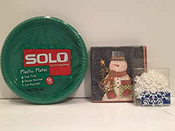 Solo Round 10.25in Plastic Plates 16 CT u2013 Green a Set of 40 Count & Amazon.com: Solo Round 10.25in Plastic Plates 16 CT u2013 Green a Set ...