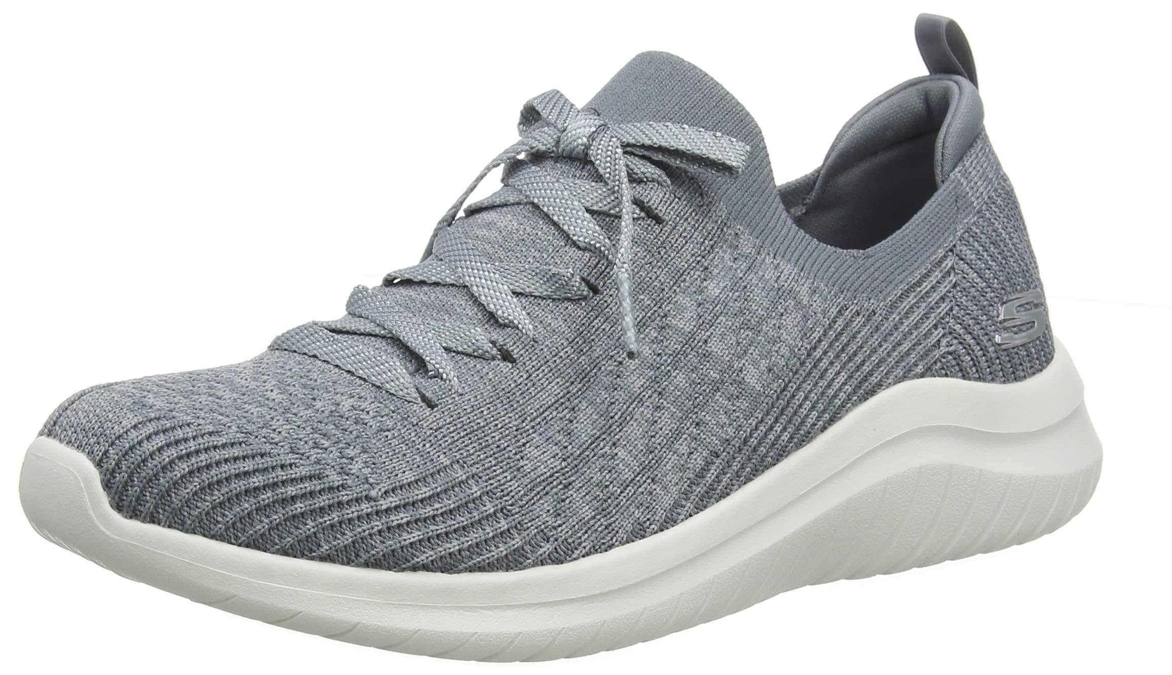 Skechers Women's Ultra Flex 2.0 Sneaker, Grey, 6.5 M US by Skechers
