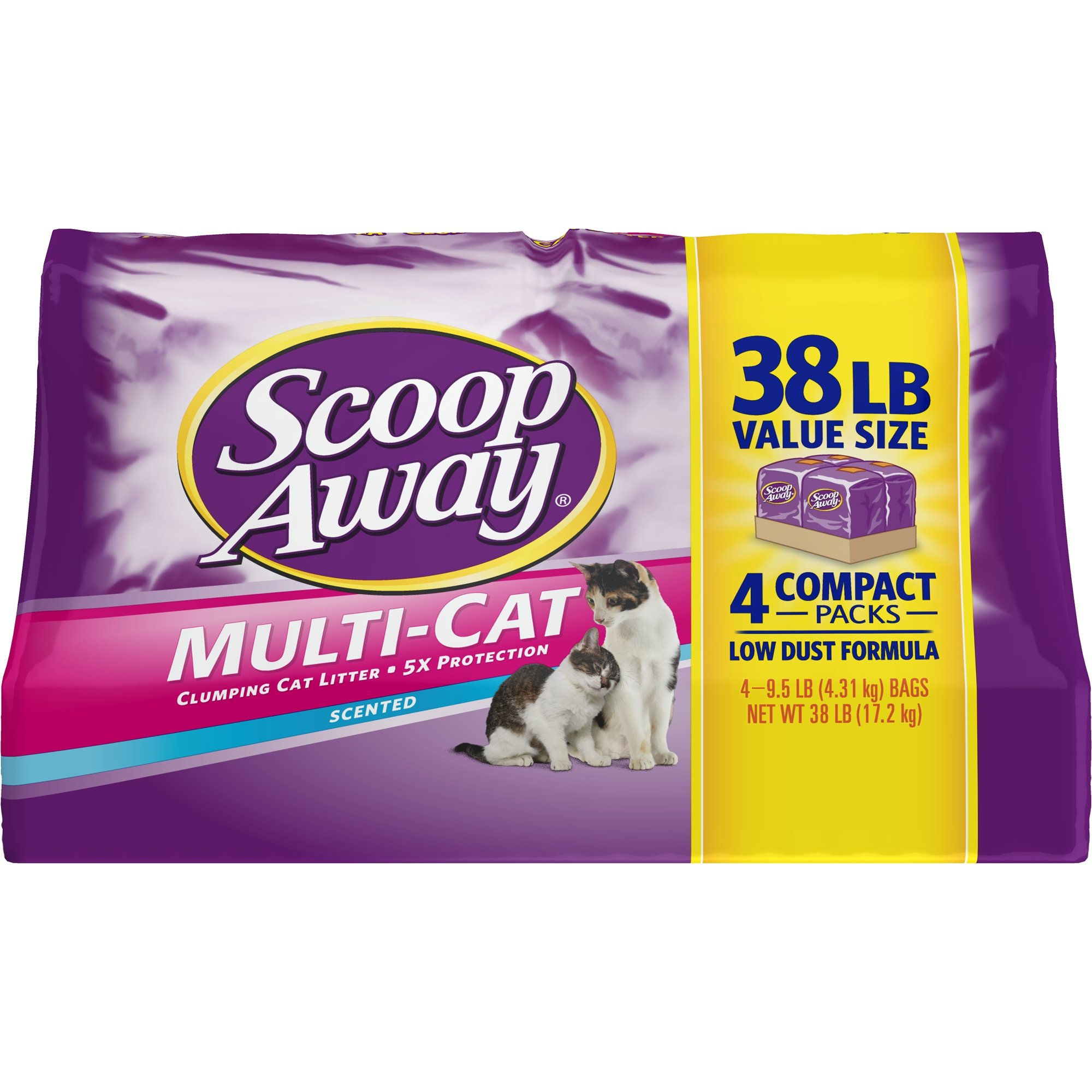 Scoop Away Multi-Cat, Scented Cat Litter, 38 Pounds (pack of 2) by Scoop Away