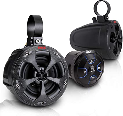 UTV ATV WAKEBOARD waterproof marine speakers Bluetooth audio Amplifier Speaker
