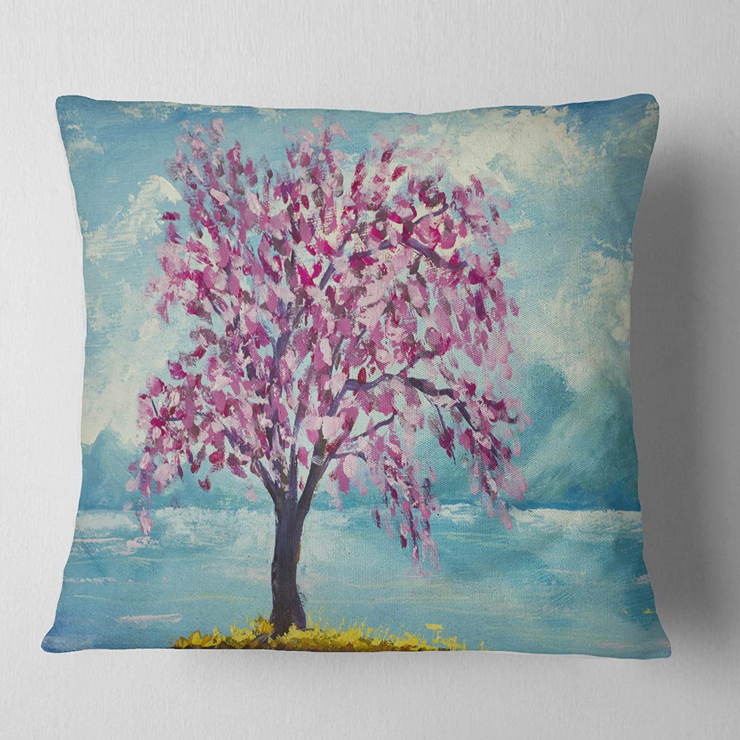 ArtVerse Katelyn Smith 26 x 26 Poly Twill Double Sided Print with Concealed Zipper /& Insert North Carolina Love Watercolor Pillow