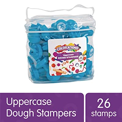 Colorations Easy Grip Uppercase Learning Stamp Toy for Preschool Toddler Kids ABC Learning, Birthday Party, School Classroom, Education Toy (Item # DOUGHUP): Industrial & Scientific
