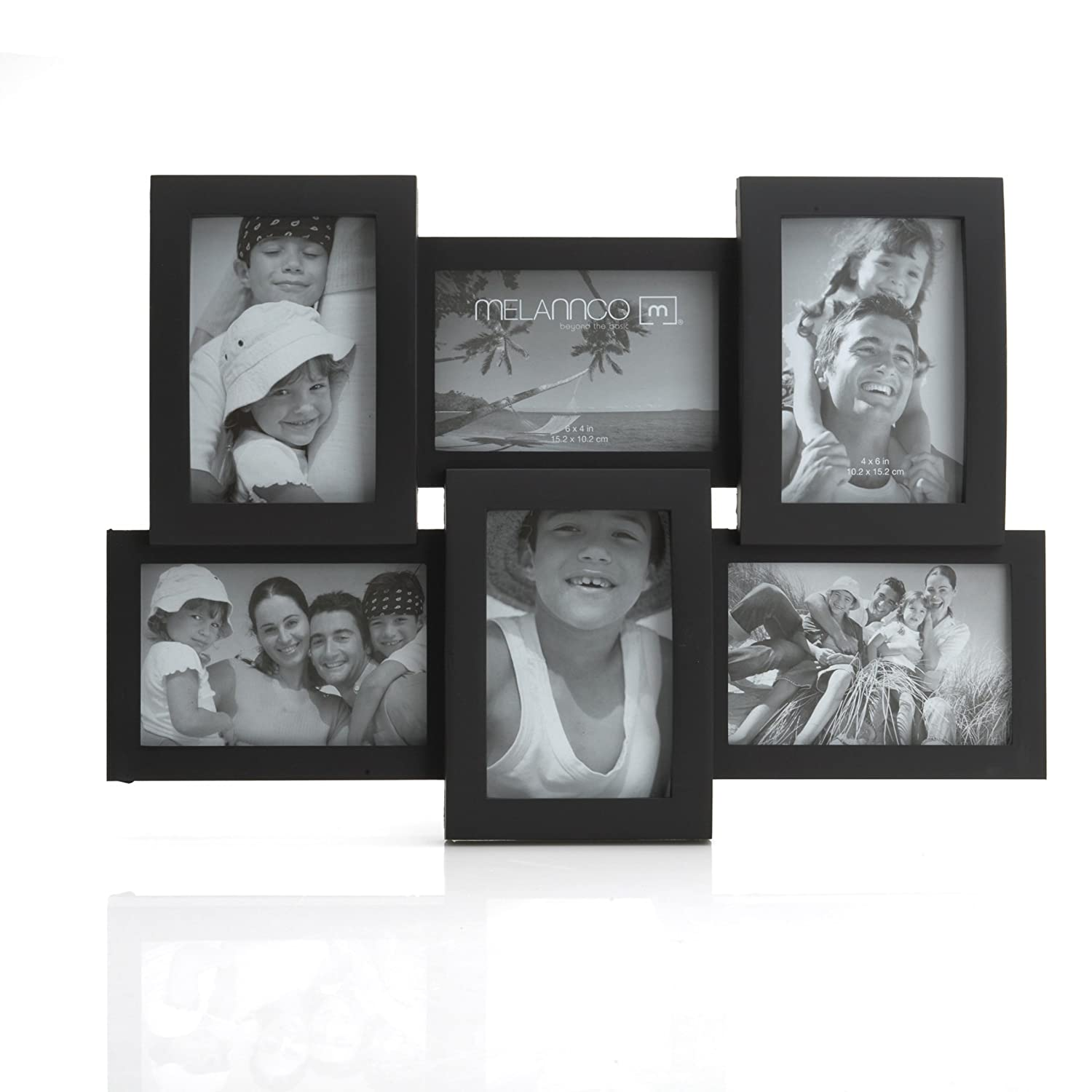 Amazon.com: Melannco 6-Opening Flat and Curved Collage Frame, 18 ...