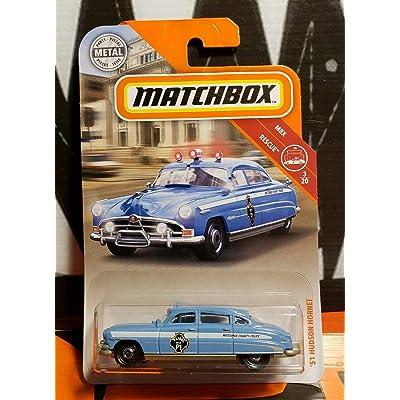 Matchbox 2020 MBX Rescue '51 Hudson Hornet 57/100, Blue-Gray: Toys & Games