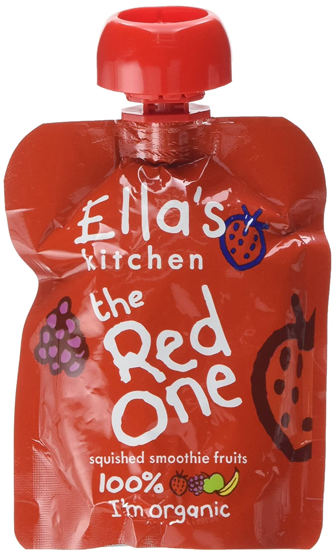 Ella's Kitchen Organic The Red One Smoothie Fruits 90 g (Pack of 12) Ella' s Kitchen EK052