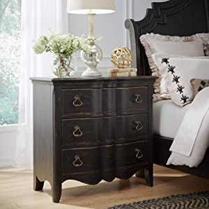 Liberty Furniture INDUSTRIES Chesapeake 3 Drawer Bachelor Chest, Black
