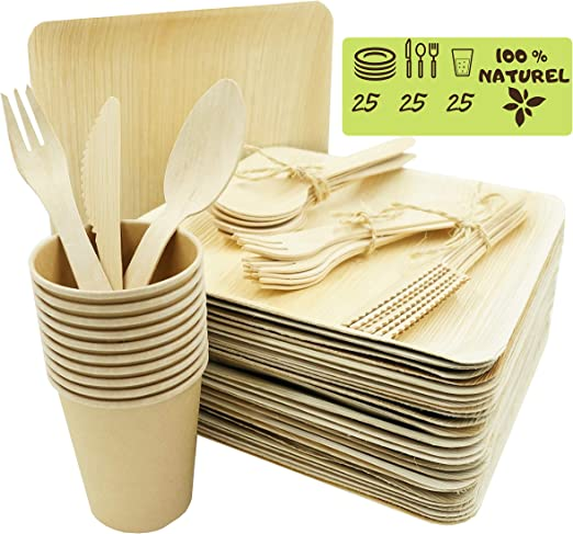 Bio Wary - Plato desechable biodegradable y compostable, incluye ...