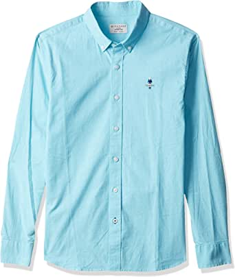 Giordano Men's 01049043 Classic men stretchy oxford shirts