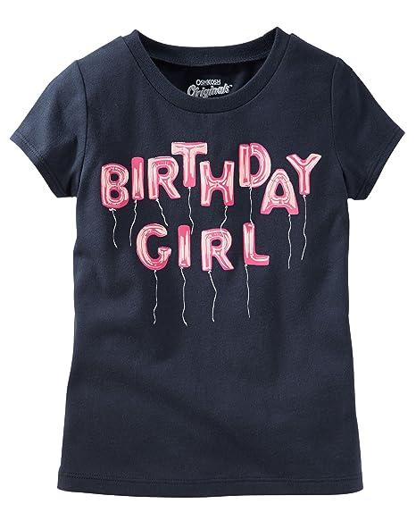 OshKosh Bgosh Little Girls Short Sleeve Birthday Girl Tee 18 Months
