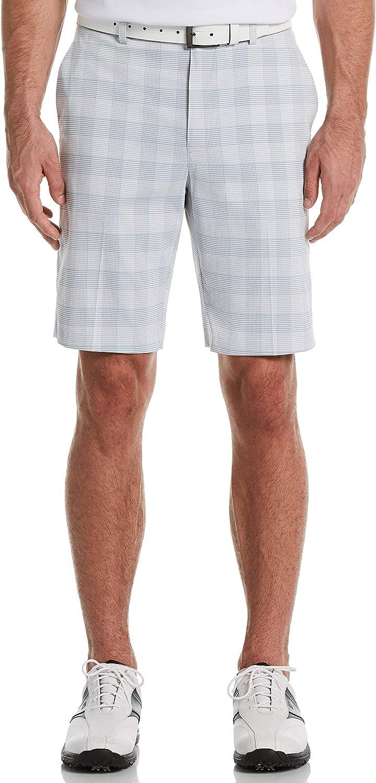PGA TOUR Men's Flat Front Plaid Short