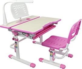 VIVO Deluxe Height Adjustable Childrenu0027s Desk U0026 Chair Kids Interactive Work  Station