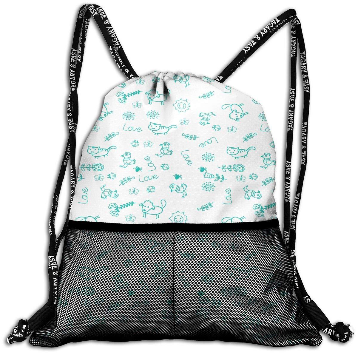 HUOPR5Q Flowers Drawstring Backpack Sport Gym Sack Shoulder Bulk Bag Dance Bag for School Travel