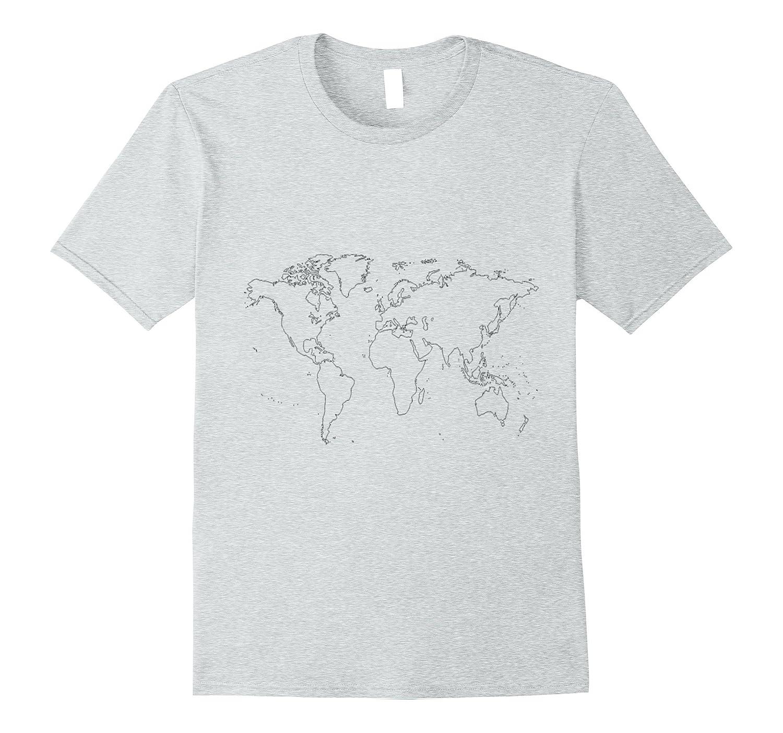 World Map Tshirt Global Earth Shirt Exploration Tee Th Teehelen
