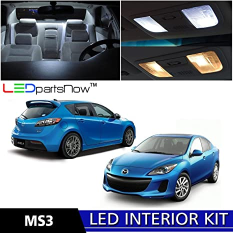 LEDpartsNow 2010 2013 Mazda 3 MS3 Sedan Hatch LED Interior Lights  Accessories Replacement Package Kit