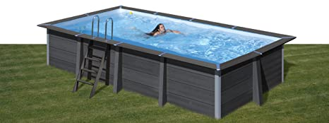 Piscina desmontable GRE de composite rectangular altura 124 ...