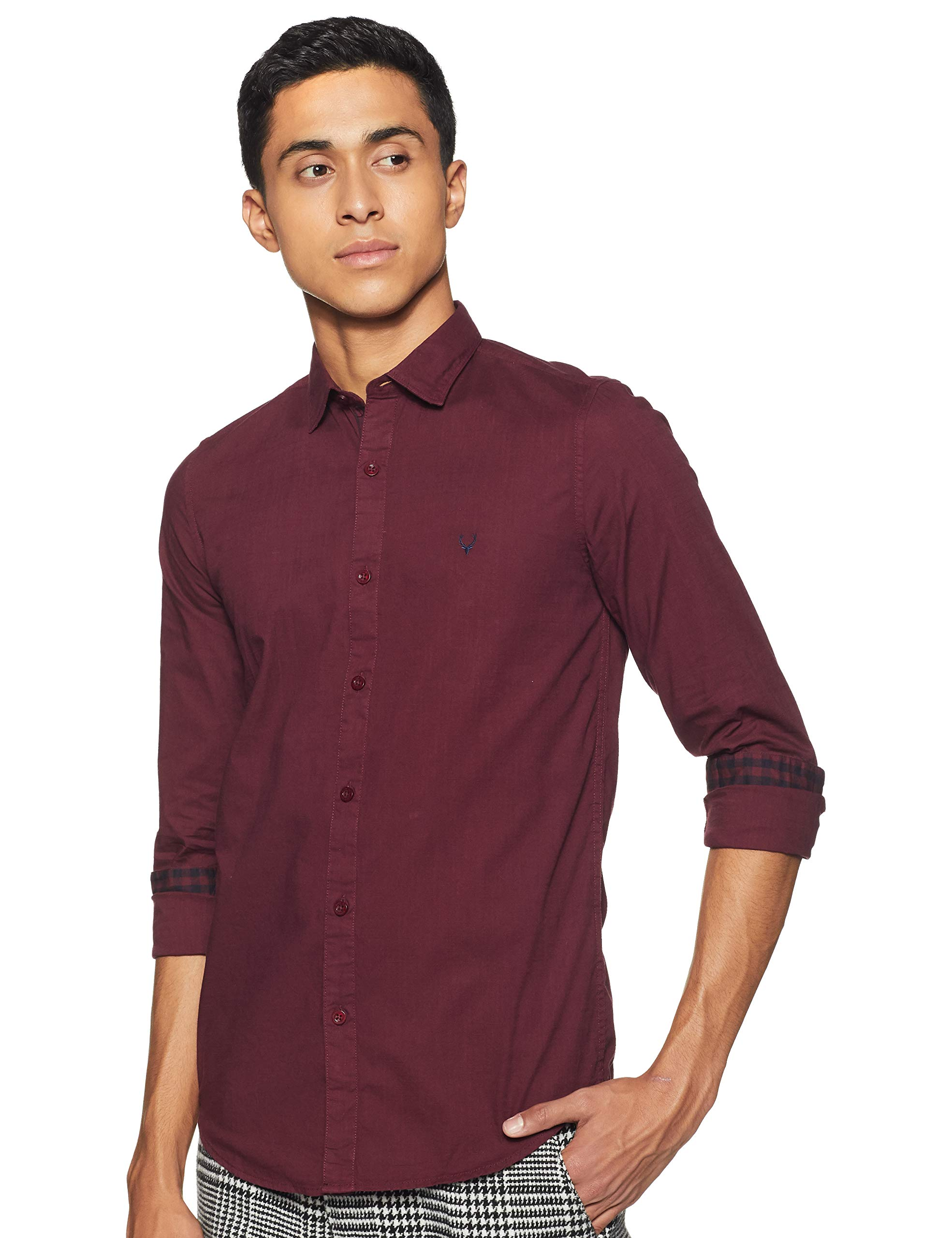 Allen Solly Men's Plain Slim Fit Casual Shirt (B07DMYHRPP) Amazon Price History, Amazon Price Tracker
