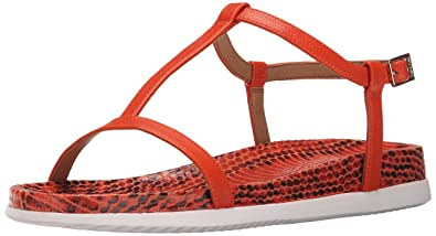 Womens Sandals Calvin Klein Doma Orange Laquer Toscana Leather