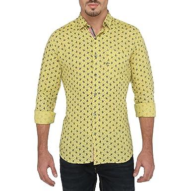 6466b3d59216d A La Mode 100% European Linen Shirt for Men: Amazon.in: Clothing ...