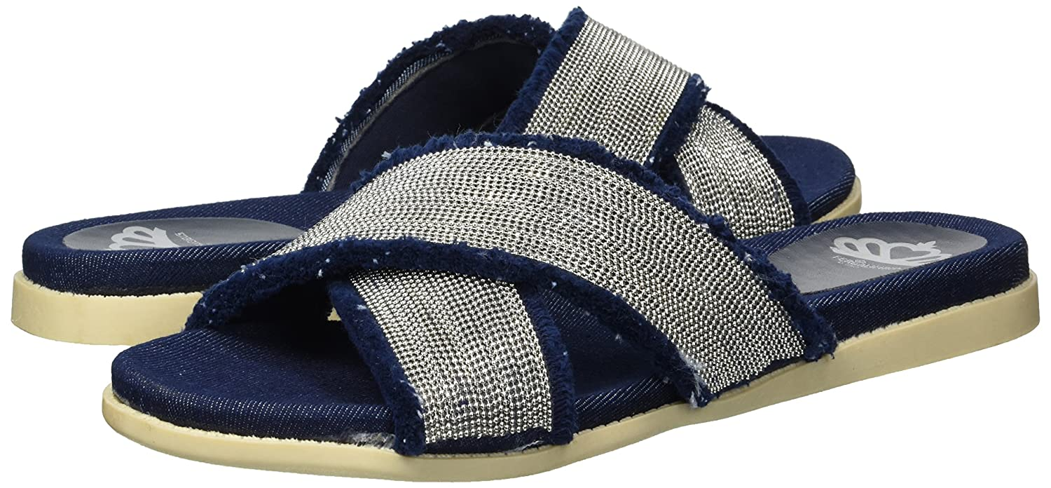 Fergalicious Women's Zena Slide Sandal B079MB98KS 8 B(M) US|Denim